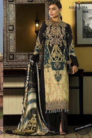 Asim Jofa Printed Embroidered Designer Lawn Dresses Collection 2020
