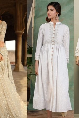 Latest White Dresses Trends Shalwar Kameez Fashion 2019-2020