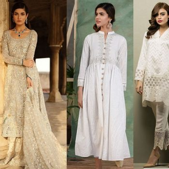 Latest White Dresses Trends Shalwar Kameez Fashion 2020