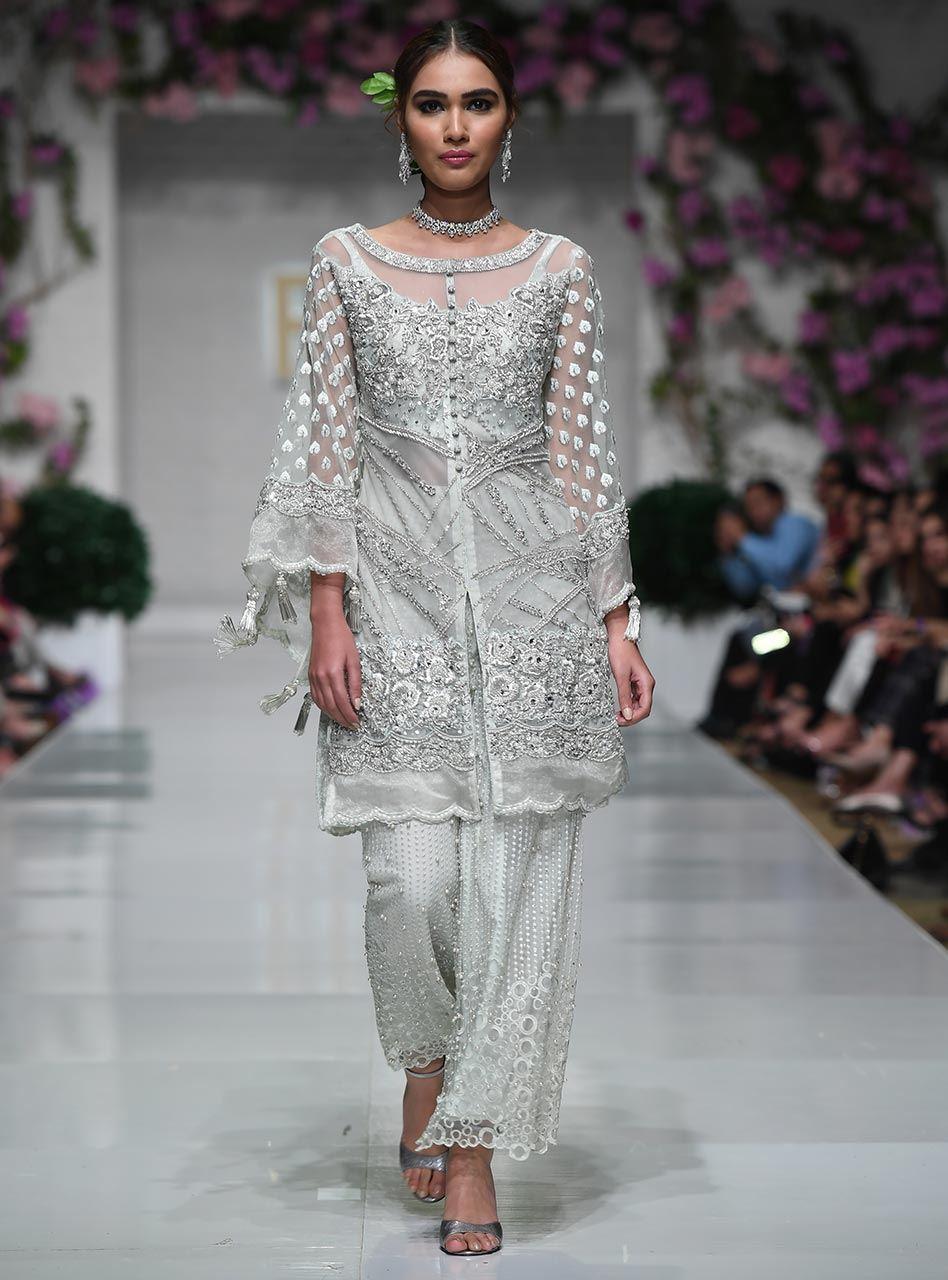 Party Wear Latest White Dresses Trends Shalwar Kameez