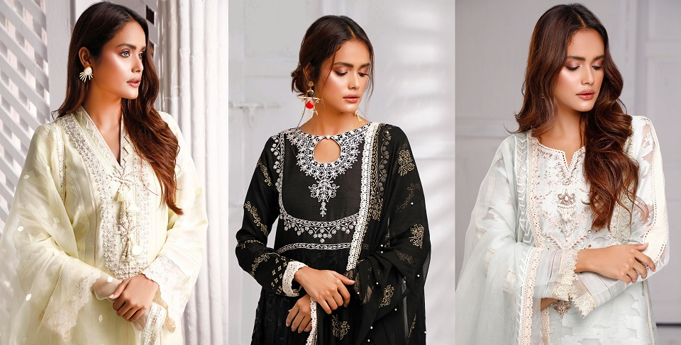 Sana Abbas Beautiful Formal Eid Dresses Designs Collection