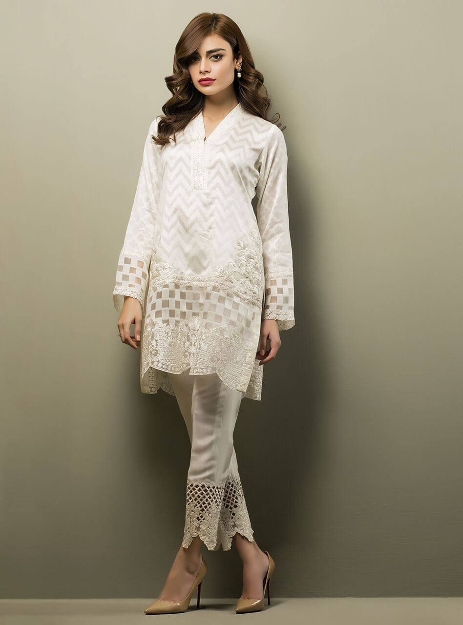 Latest White Dresses Trends Shalwar Kameez Fashion 2019 2020