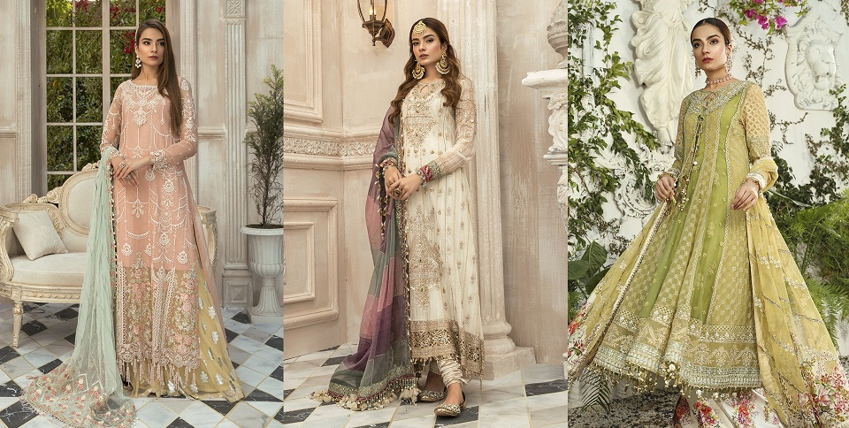 Best Eid Women Dresses Maria B Mbroidered Eid Collection 2020- 21