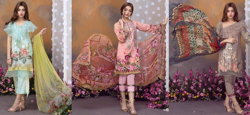 Khas Luxury Eid Lawn Suits Designs Collection 2019-2020