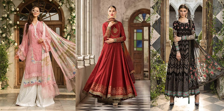 Latest Maria B Eid Lawn Dresses Designs Collection 2019-2020