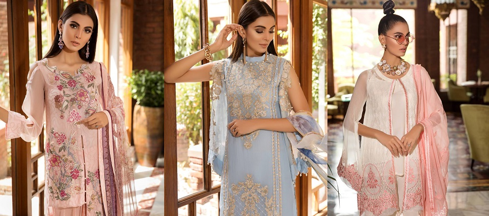 Khas Luxury Embroidered Chiffon Dresses Collection 2019