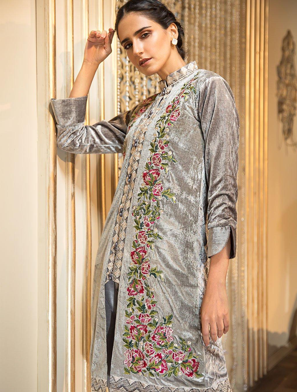 Khas Luxury Pret Formal Silk Velvet Kurtis Collection 2020