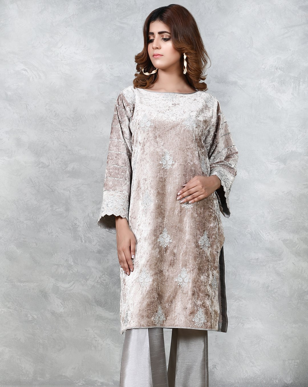 Formal Silk & Velvet Kurtis Collection