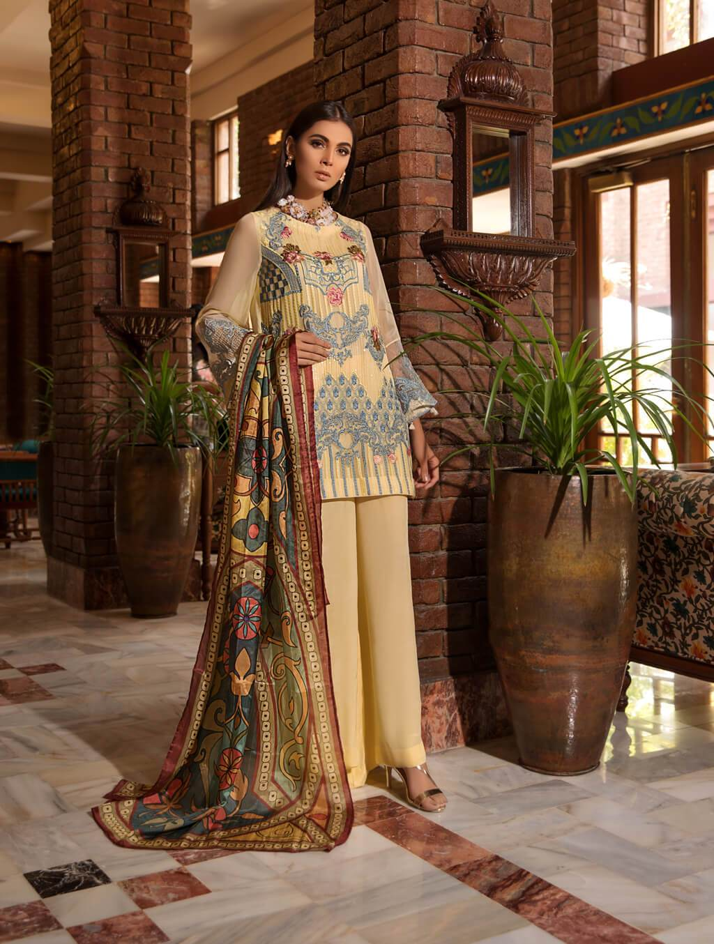 beautiful chiffon suit