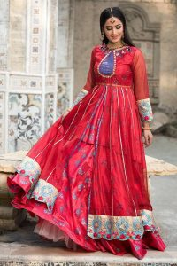 Latest Party Wear Maxi Dresses & Frocks Collection