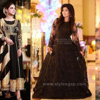 Asian Pakistani Black Color Dresses Combination & Trends 2019