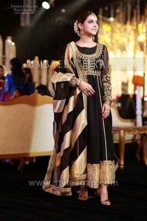 Black Frocks - Asian Pakistani Black Color Dresses ...