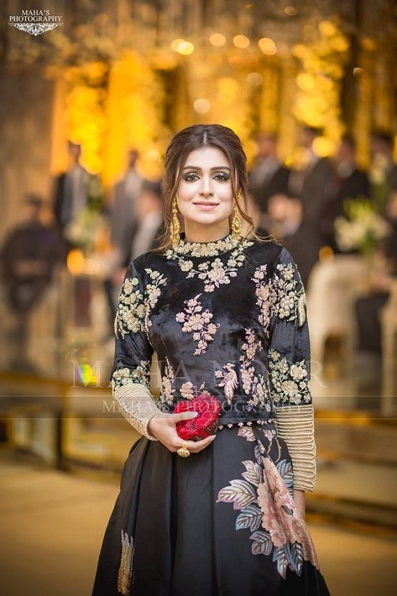 Asian Pakistani Black Dresses Combination Styles