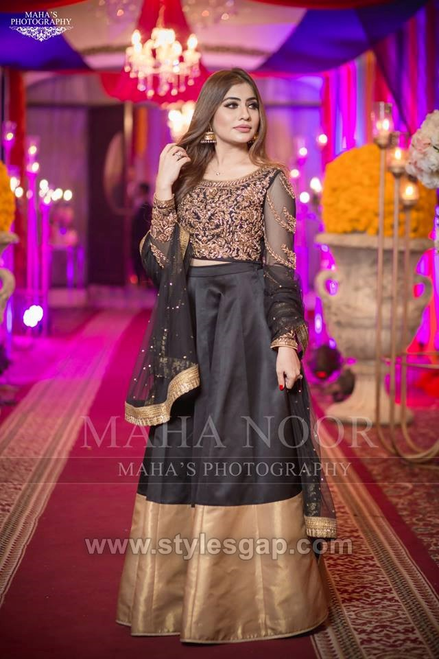 BLack ledhenga styles and designs combination
