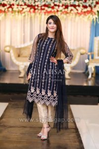 Asian Pakistani Black Color Dresses Combination Collection