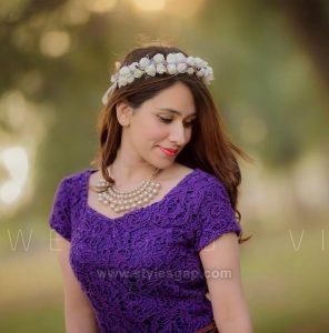 Blue Bridal Shower Dresses & Frocks Designs