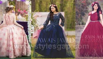 Latest Beautiful Pakistani Bridal Shower Dresses Ideas & Designs Collection