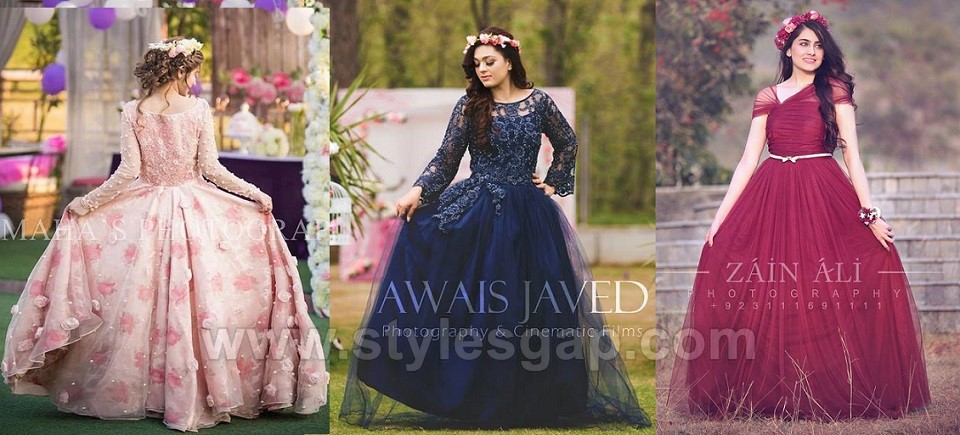 Latest Beautiful Pakistani Bridal Shower Dresses Ideas & Designs Collection