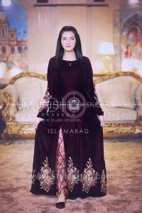 Asian Pakistani Black Color Dresses Combination Designs