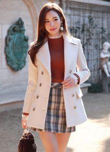 plain white blazer