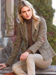 Checked woolen blazer