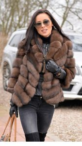 brown fuax fur jacket