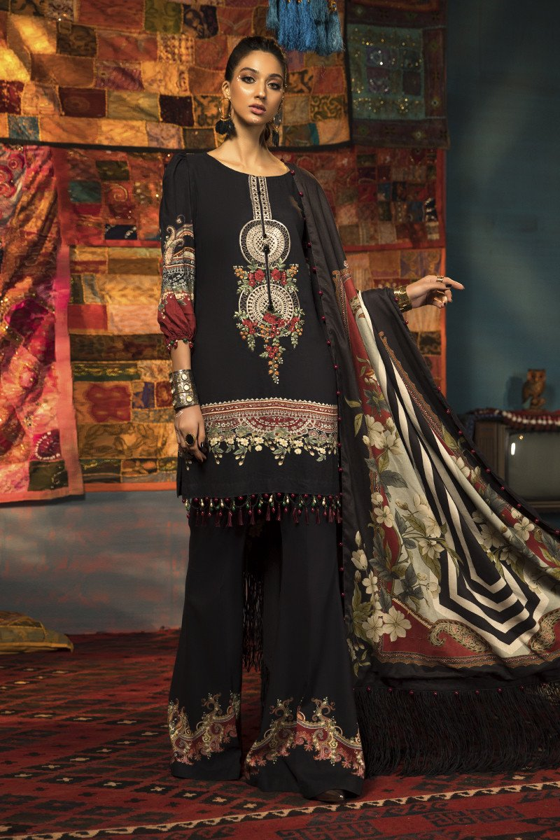 Latest Maria B Winter Printed Dresses