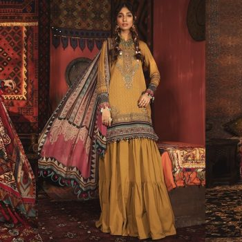 Latest Maria B Winter Printed Dresses Autumn Collection 2020-2021