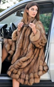 classic sable fur coat