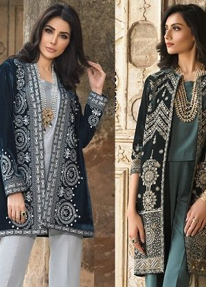 Nishat Linen Pakistani Winter Formal Dresses Designs 2019-2020