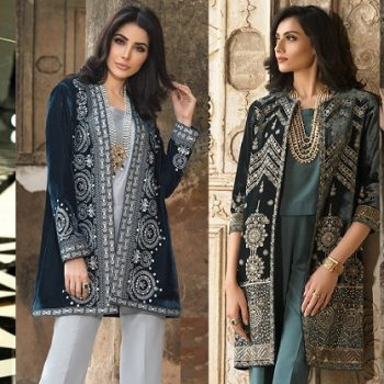 Nishat Linen Winter Formal Dresses Velvet Shawls & Jackets 2020
