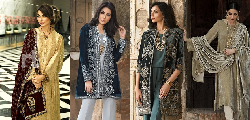 Nishat Linen Pakistani Winter Formal Dresses Designs 2019-2020