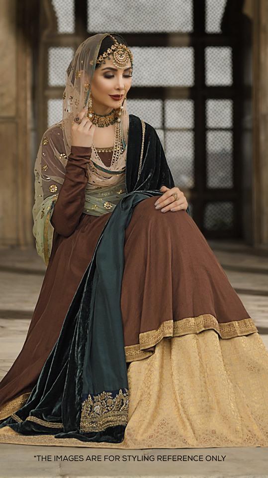 green velvet shawl