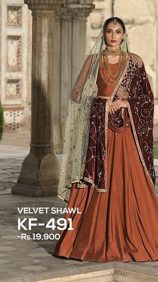 luxury velvet shawl