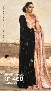 black velvet shawl