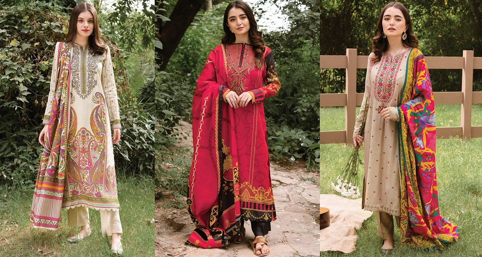 Orient Textiles Embroidered & Printed Latest Winter Dresses