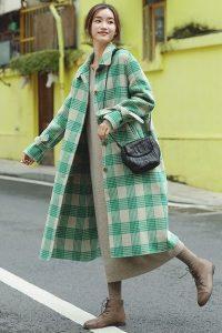 green check overcoat