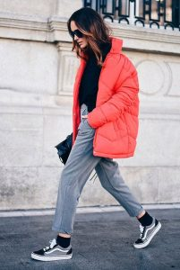 coral puffer jacket