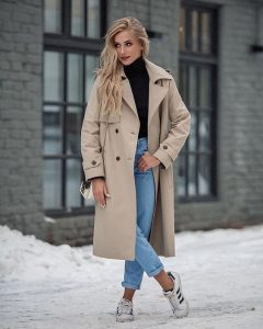 camel color trench coat