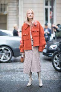 orange woolen jacket
