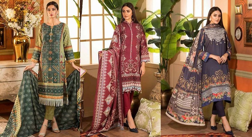 Khas Beautiful Winter Dresses Vivid Luxe Collection 2019-2020