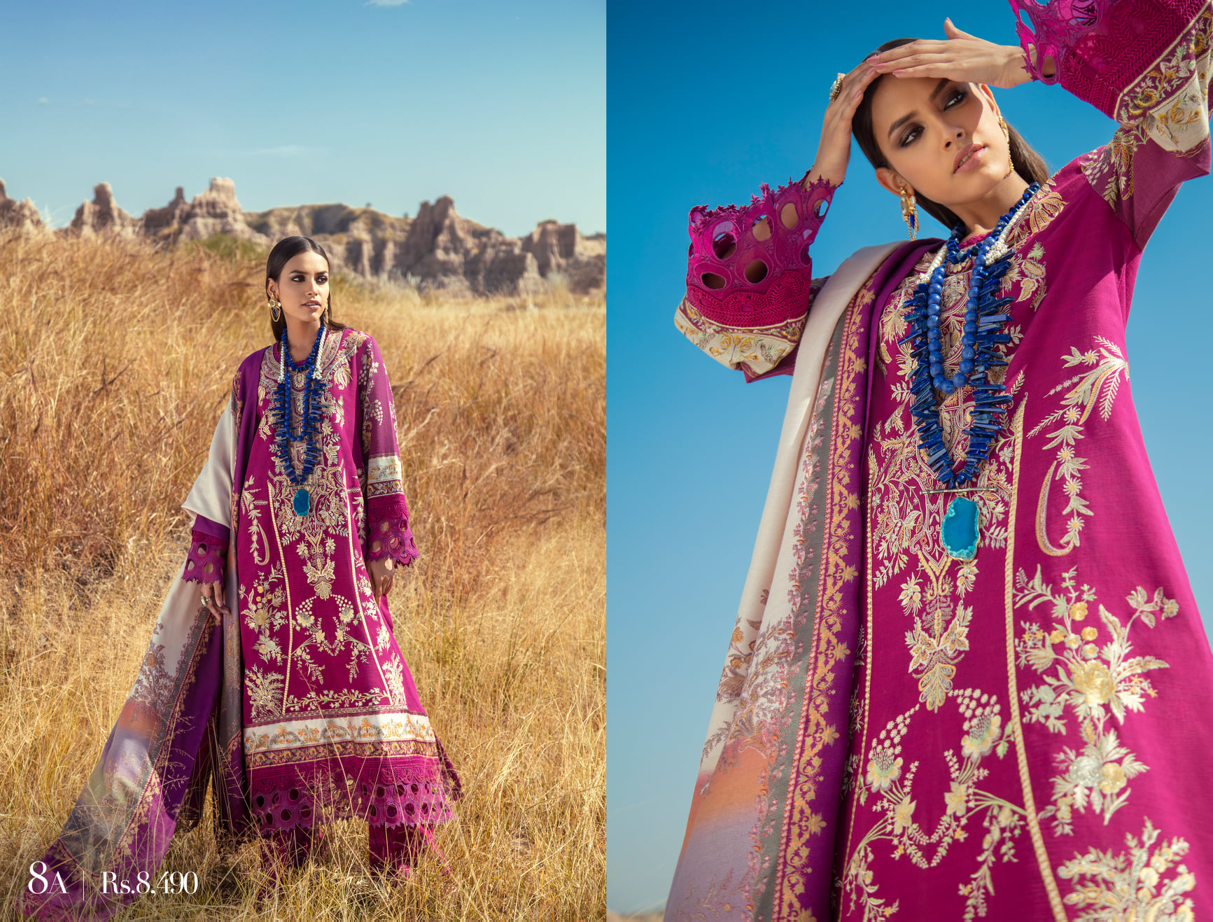 Sana Safinaz Winter Shawl Dresses