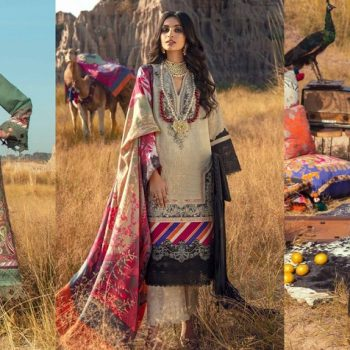 Latest Sana Safinaz Winter Shawl Dresses Collection 2020-21
