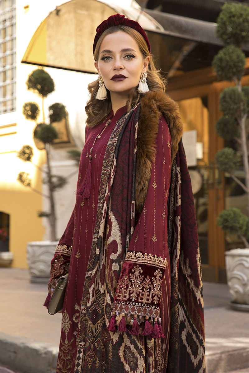 Maria B Latest Winter Linen Dresses Fancy Shawl