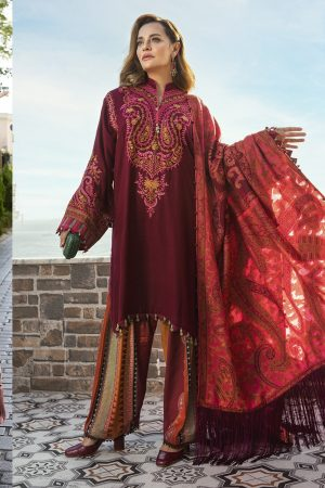 Maria B Latest Winter Linen Dresses Fancy Shawl Collection 2020-2021