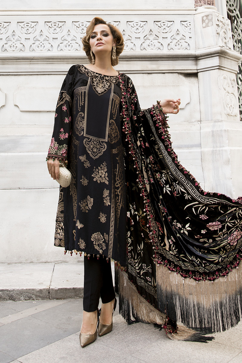 Maria B Latest Winter Linen Dresses Fancy Shawl