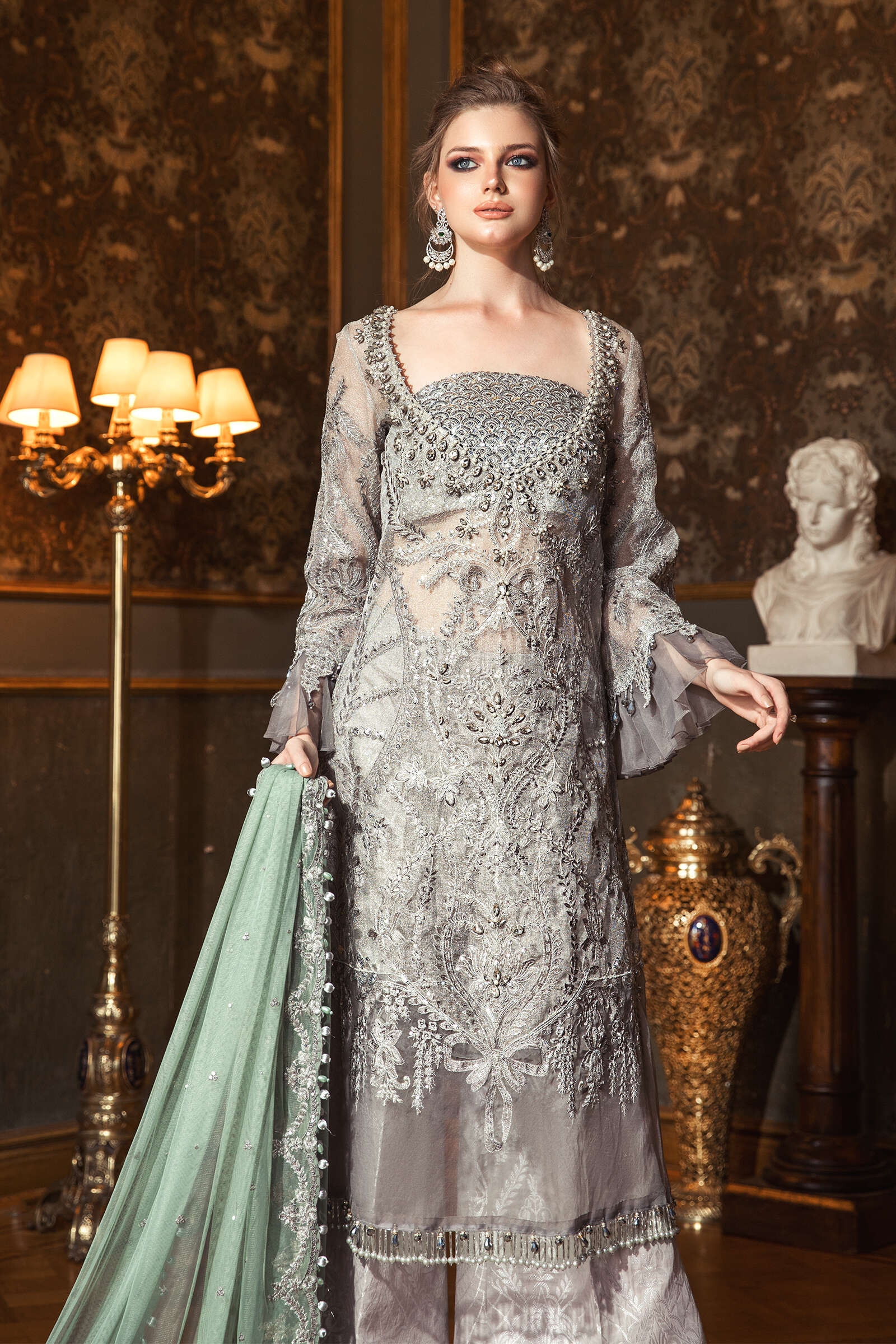 Embroidered Formal Winter Dresses