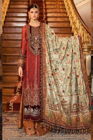 Maria B Embroidered Formal Winter Dresses Collection