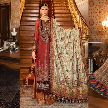 Maria B Embroidered Formal Winter Dresses Collection 2021