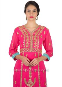 Fancy Indian Neckline Gala Designs